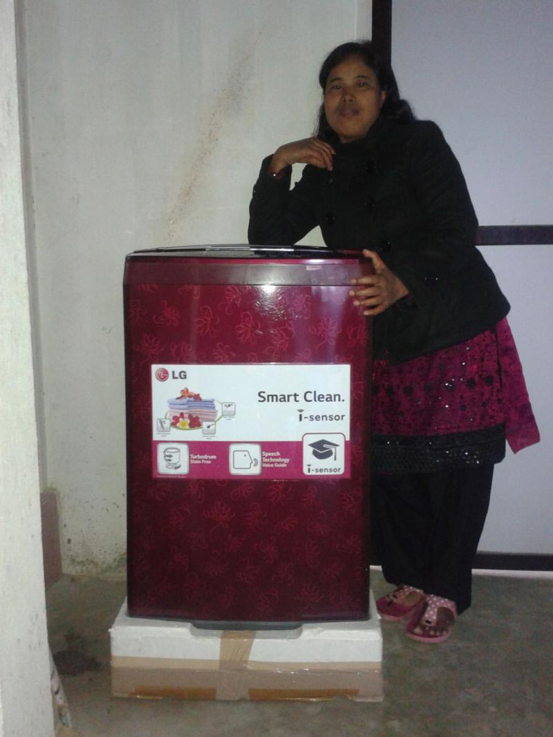 washing machine for the orphanage